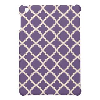 Mini caso del iPad púrpura de Quatrefoil