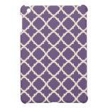 Mini caso del iPad púrpura de Quatrefoil iPad Mini Cobertura