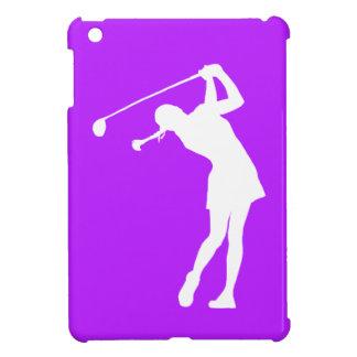 Mini caso del iPad púrpura de señora Golfer