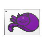 Mini caso del iPad púrpura del gato iPad Mini Protector