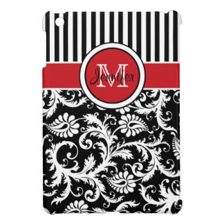 Mini caso del iPad rayado rojo, negro, blanco del  iPad Mini Protector