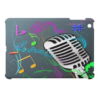 Mini caso del iPad retro de la música