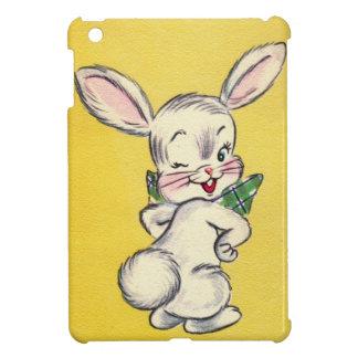 Mini caso del iPad retro lindo del conejito