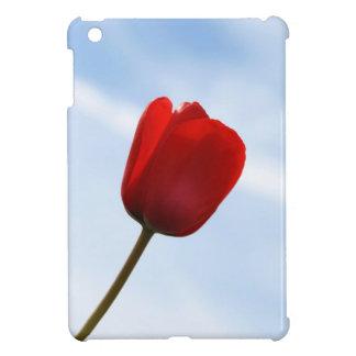 Mini caso del iPad rojo del tulipán iPad Mini Fundas