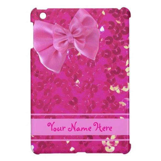 mini caso del ipad rosado de las lentejuelas iPad mini cárcasa
