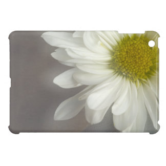 Mini caso del iPad suave de la margarita blanca iPad Mini Fundas