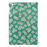 Mini caso del iPad verde retro de la impresión flo iPad Mini Cárcasas