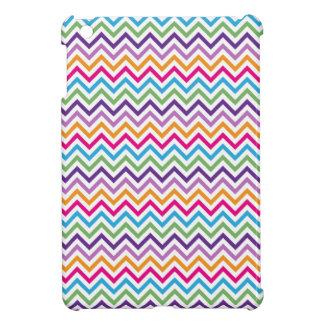 Mini caso del multicolor de Chevron del iPad brill