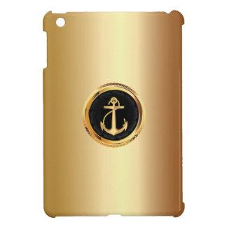 Mini caso del oro del ancla del metal del iPad rea