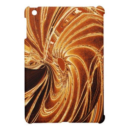 Mini caso del oro del iPad de neón abstracto de la