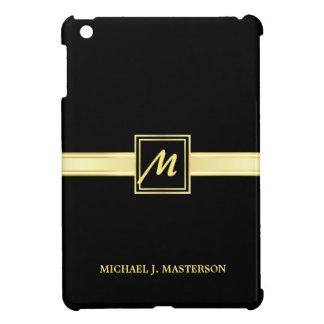 Mini caso del oro del iPad negro ejecutivo del mon