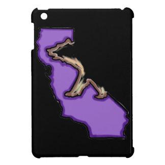 Mini caso del oso negro de Cali del ipad púrpura d
