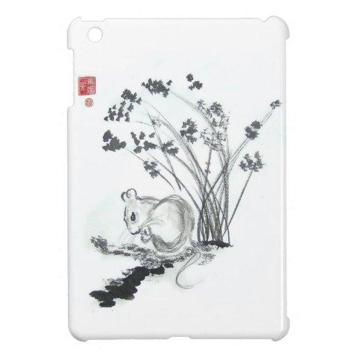 Mini caso del pequeño iPad blanco del ratón iPad Mini Protectores