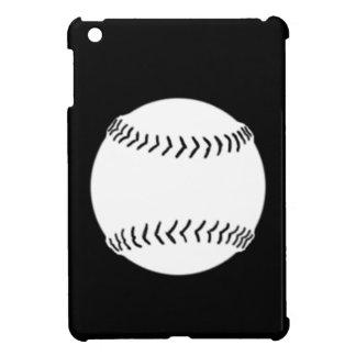 Mini caso del softball del iPad negro de la siluet
