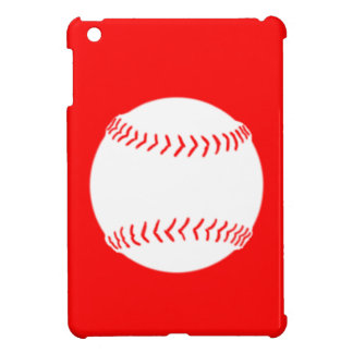 Mini caso del softball del iPad rojo de la silueta