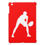 Mini caso del tenis del iPad rojo de la silueta iPad Mini Cobertura