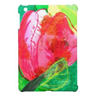 mini caso del tulipán del collage del ipad rojo de iPad mini coberturas
