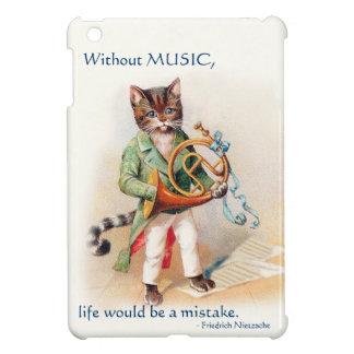 Mini caso del Victorian del iPad musical del gato;
