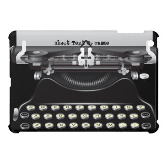 Mini caso del vintage de la máquina de escribir de