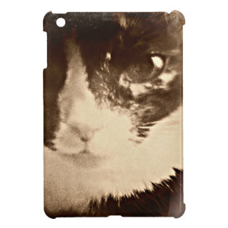 Mini caso del vintage del iPad lindo artsy del gat iPad Mini Fundas