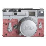 Mini caso del vintage del iPad rosado de la cámara