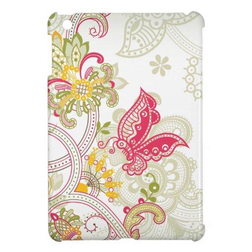 Mini caso del vintage del remolino del ipad floral iPad mini cobertura