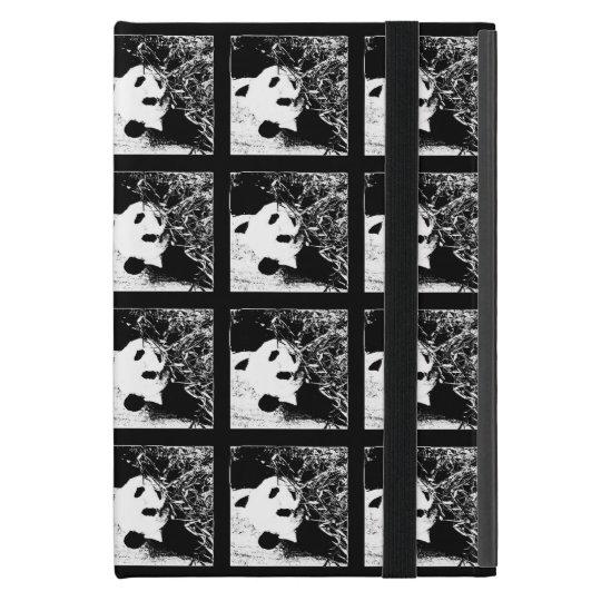 mini caso en folio del iPad, panda gigante, arte iPad Mini Fundas