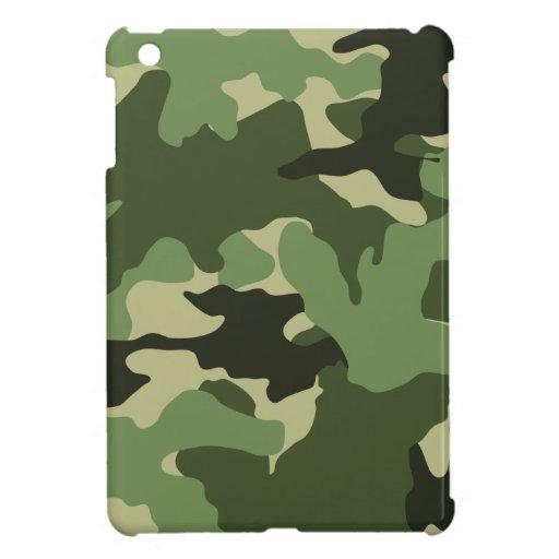 Mini casos de Camo del iPad verde militar del camu