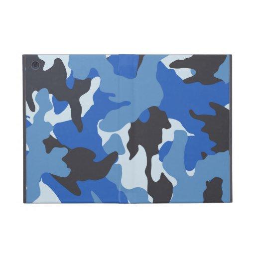 Mini casos de Camo Powis del iPad azul militar del iPad Mini Cobertura
