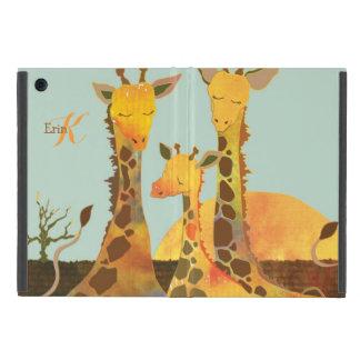 Mini casos de la jirafa de la familia del iPad mini cárcasas