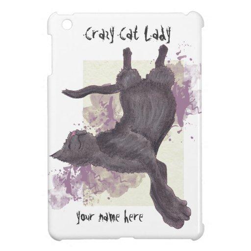 Mini casos del gato del iPad loco de la señora iPad Mini Cárcasas