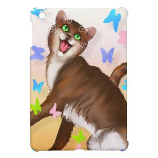 Mini casos del up-iPad anaranjado feliz del Gato-c