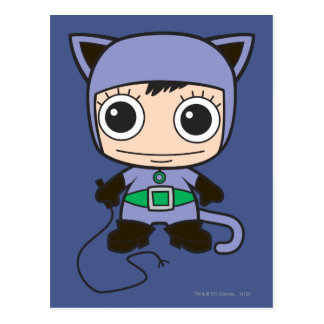 Mini Cat Woman Postcard