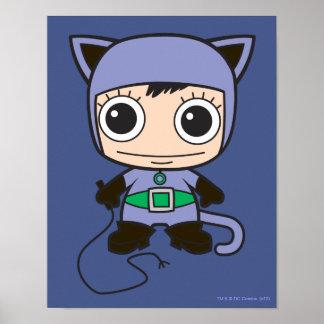 Mini Cat Woman Poster