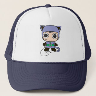 Mini Cat Woman Trucker Hat