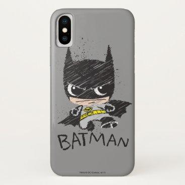 Mini Classic Batman Sketch iPhone X Case
