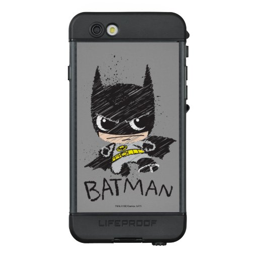 Mini Classic Batman Sketch LifeProof NÜÜD iPhone 6s Case