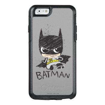 Mini Classic Batman Sketch Otterbox Iphone 6/6s Case by justiceleague at Zazzle