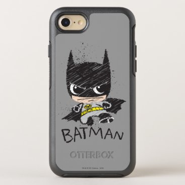 Mini Classic Batman Sketch OtterBox Symmetry iPhone 8/7 Case
