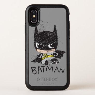 Mini Classic Batman Sketch OtterBox Symmetry iPhone X Case