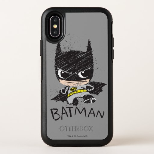 Mini Classic Batman Sketch OtterBox Symmetry iPhone X Case
