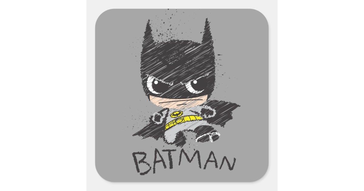 Mini Classic Batman Sketch Square Sticker Zazzle Com Heads, i do something involving a classic batman villain. mini classic batman sketch square sticker zazzle com