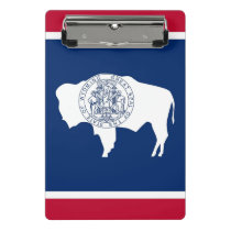 Mini clipboard with flag of Wyoming, USA