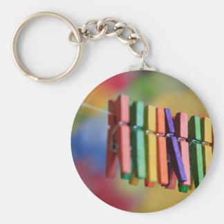 Mini Clothespins Keychain
