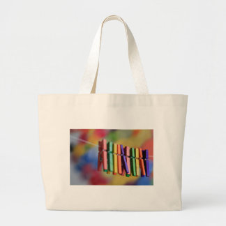 Mini Clothespins Large Tote Bag