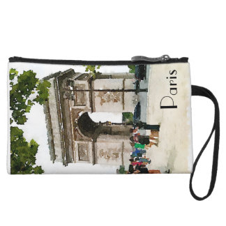 Mini Clutch Arc de Triomphe watercolor