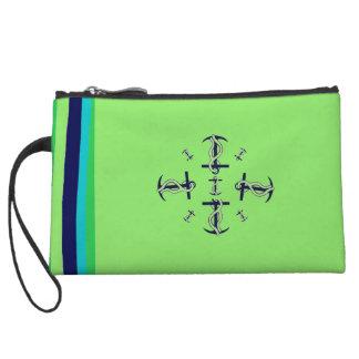 Mini Clutch Bag Nautical Green Blue