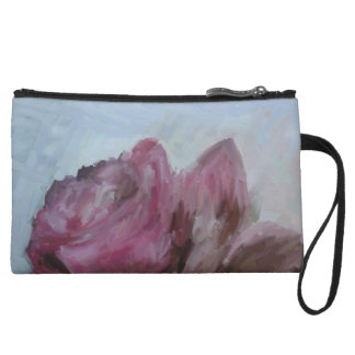 Mini clutch, bag, rose, purple wristlet