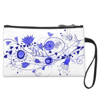 Mini Clutch Bag Whimsical Navy Blue Wedding Favor