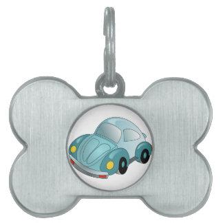 Mini coche placa de mascota